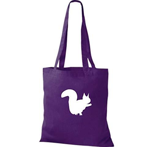 De Bolso Para Shirtinstyle Mujer Tela Púrpura Algodón 80wwqUP