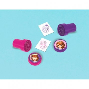 Disney Sofia the First Mini Stampers Princess Birthday Party Toy Favour and Prize Giveaway (1 Piece), Pink/Purple, 1 3/8