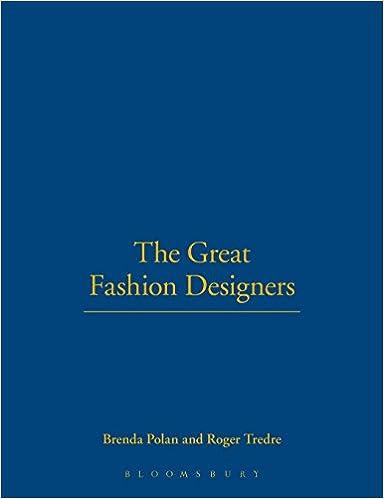 The Great Fashion Designers Polan Brenda Tredre Roger 9781847882271 Amazon Com Books