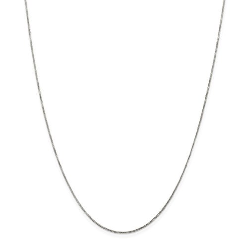 Open Curb Chain - Solid 925 Sterling Silver .8mm Open Cuban Curb Chain Necklace 20