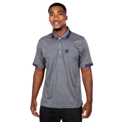 NFL Dallas Cowboys Mens Nash Polo, Charcoal/Navy, X ()