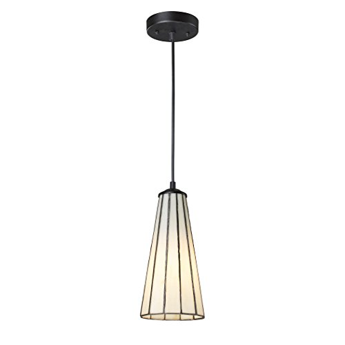 Lumino 1 Light Pendant (Alumbrada Collection Lumino 1 Light Pendant In Matte Black And Comet White)