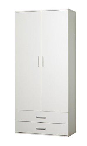 WILMES 40102-75 0 75 Schrank Ronny mit Staubsaugerfach Dekor Melamin, 80 x 178 x 39 cm, weiß