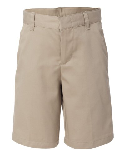 - French Toast School Uniform Boys Flat Front Adjustable Waist Shorts, Khaki, 10