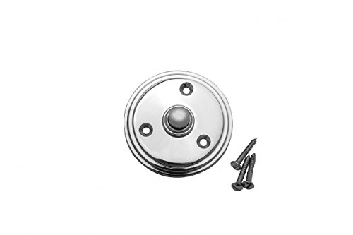 Doorbell Chrome (Chrome Plated Brass Doorbell Button Mounting Screws Included)