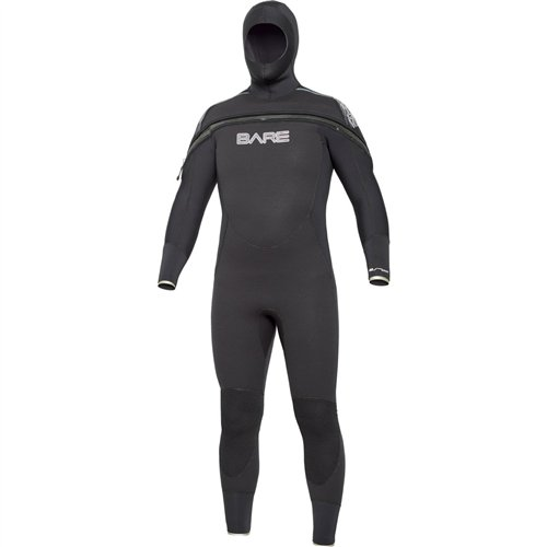 Semi Dry Full Wetsuit (Bare 8/7mm Velocity Semi-Dry Hooded Full Suit - 3X-Large)