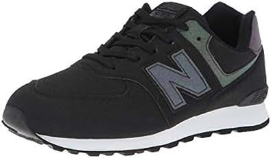 New Balance 574v1 Sneaker, Black/Multi, 8.5 W US Toddler