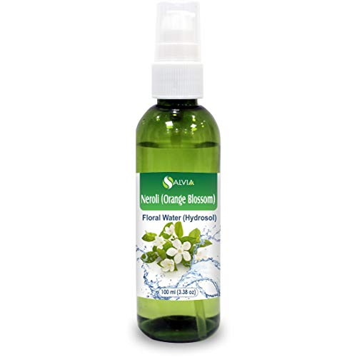 Hydrosol Facial Mist - Neroli (Orange Blossom) Floral Water 100% Pure Hydrosol Spray Mist for Skin & Body Cooling, Face, Astringent, Facial Toner- 100ml / 3.38 fl oz