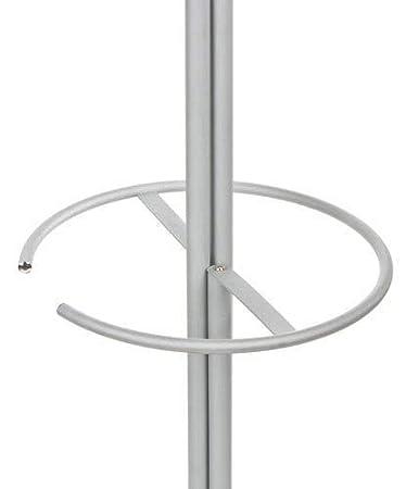 Eurosilla Sun - Perchero paragüero con espejo, 33 x 63 x180 cm. Estructura metálica con perchas de madera barnizado en wenge