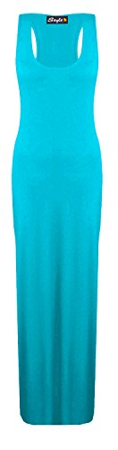Glossy Look - Vestido - Básico - Sin mangas - para mujer turquesa