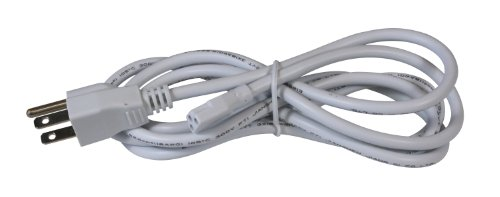 American Lighting ALC-PC6-WH Grounded Power Cord for LED Complete Fixtures, 6-Foot, White ()