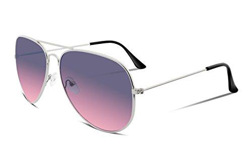 fbc4a47127f04 FEISEDY Retro Aviator Sunglasses Gradient Lens Men Women Brand Sunglasses  B1100 10 Purple-pink