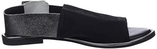 pewter 8370 Mujer Sandalia con para Negro Black Pulsera Inuovo g1x8x