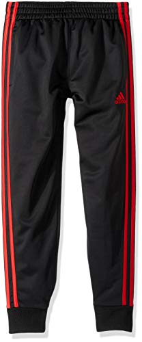 adidas Boys Big Jogger Pant, Black/red, M (10/12)