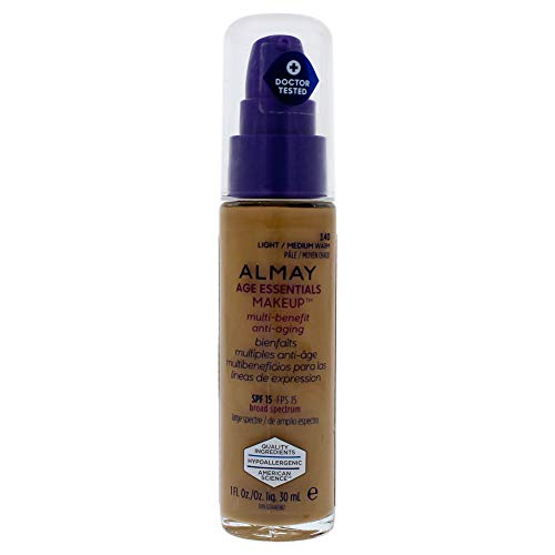Almay Age Essentials Multi-benefit Anti-aging Makeup - 140 Light-medium Warm By Almay for Women - 1 Oz Foundation, 1 Oz