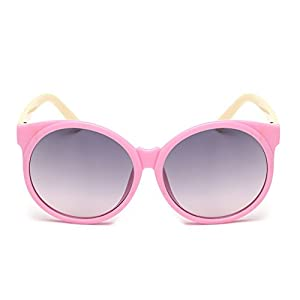 Cute Baby Children Kids Candy Color PC Frame UV400 Protection Glasses Round Sunglasses Eyewear - Pink+tawny