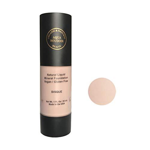 Aqua Boudoir Natural Organic Liquid Foudation Makeup, Gluten-Free, Vegan, Cruelty-Free, Non Comedogenic, Hypoallergenic - color 12