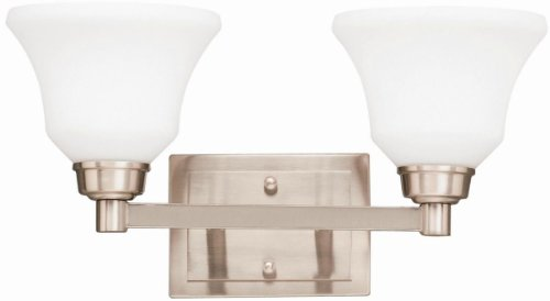 Kichler 5389NI Langford Bath 2-Light, Brushed Nickel