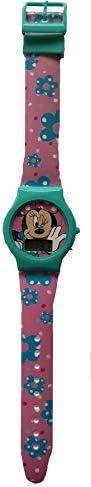 ディズニー ミニーマウス ターコイズ デジタル腕時計 タイマーと日付付き