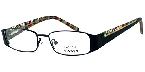 Visage Petite Lightweight & Comfortable Designer Reading Glasses 100 in Black - Designer Petite Glasses