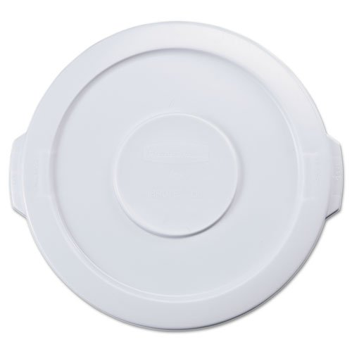 RCP2609WHI - Flat Top Lid for 10-Gallon Round Brute (10 Gallon Brute Round Container)