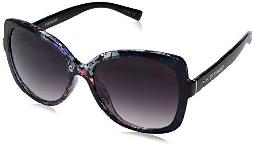 Steve Madden Women's Sm875227 Square Sunglasses, Floral, 55 ()