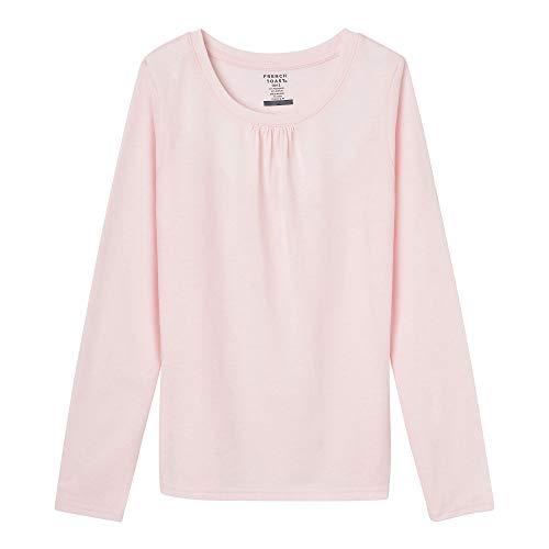 French Toast Girls' Big Long Sleeve Crewneck Tee, Light Pink, ()