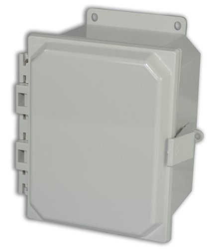Hinged Vent Panel (Allied Moulded AMP864NLF Polyline Series Polycarbonate JIC Size Junction Box, Nonmetalic Snap Latch with Polycarbonate Flange and Hinged Opaque Cover)
