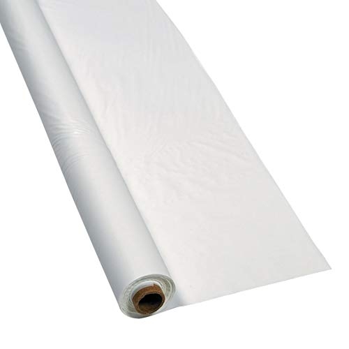 White Plastic Table Cover Roll - 40