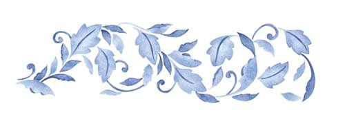- Leaf Scroll Wall Stencil SKU #2514 by Designer Stencils