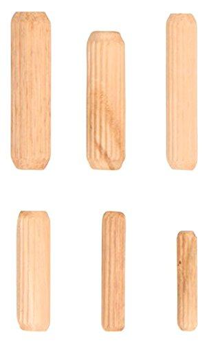 Kraftmann 88162 Assorted Wooden Dowel, Beige, Set of 53 Pieces BGS technic