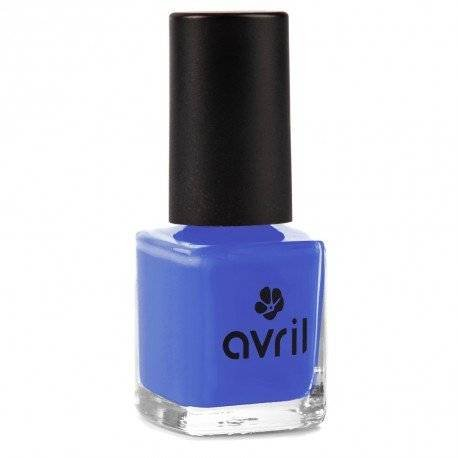 AVRIL - Vegan Nail Polish - Chemicals Free - Blue Indigo N°65 - Easy Application, Not Tested on Animals - 7ml