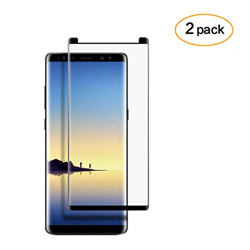 DeFitch [2-Pack] Galaxy Note 8 Screen Protector,[3D Curved Edge] Ultra Clear 9H Hardness Tempered Glass Screen Protector Bubble-Free Film for Samsung Galaxy Note 8 [Black] by DeFitch