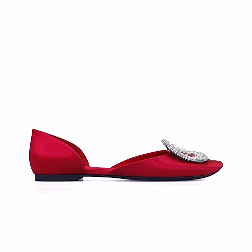 Creux Boucle Chaussures Sauvage Bouche Peu Ronde Plates J Bouche Diamant Tempérament Profonde SED 5tqgnB5