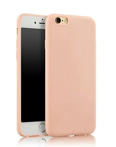 Price comparison product image apple iPhone6 6S ultra-thin silicon frosted soft sets(pink)