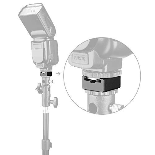ChromLives Cold Shoe Mount Flash Cold Shoe Adapter Flash Shoe Mount Bracket for Camera DSLR Flash Speedlight Canon Nikon Panasonic Yongnuo Neewer Godox Flashes and More (2 Pack)