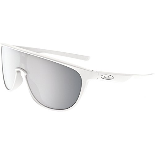 Oakley Men's Trillbe Non-Polarized Iridium Rectangular Sunglasses, Matte White, 34 - And Green White Oakley Sunglasses