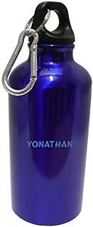 Flasque bouteille d'eau avec le texte Yonathan (Noms/Prénoms)