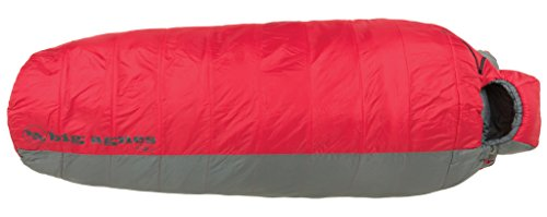 Big Agnes Encampment 15 (Insotect Hot Stream) 15 Degree Rectangular Synthetic Sleeping Bag, Red/Gray, Regular ()