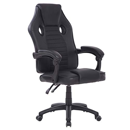 WISREMT Gaming Racing Chair Office Computer Chair PU Leather Ergonomic Executive Ergonomic Adjustable Swivel Chairs Home Designed for Young Generation
