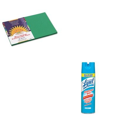 KITPAC8007RAC04675CT - Value Kit - Sunworks Construction Paper (PAC8007) and Professional LYSOL Brand III Disinfectant Spray Fresh Scent, 19 oz. Aerosol Can (RAC04675CT)