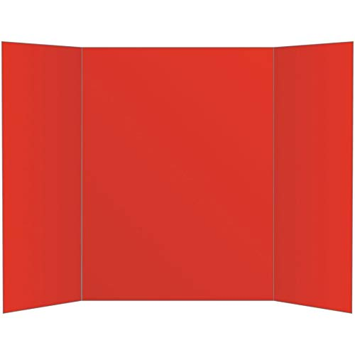 Office Depot 80% Recycled Tri-Fold Corrugate Display Board, 36in. x 48in, Red, 26993