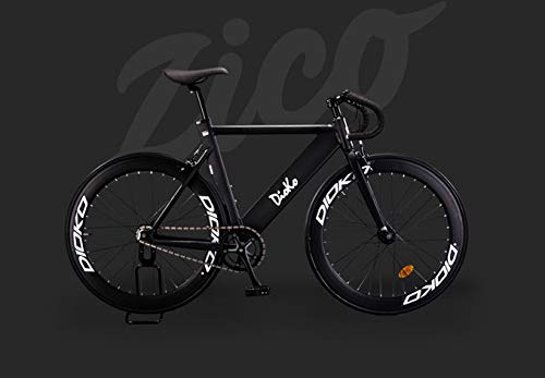 DIOKO ZICO Fixie Bike 700C Aluminum Fixie Frame Aluminum Fork Fixie Racer Saddle