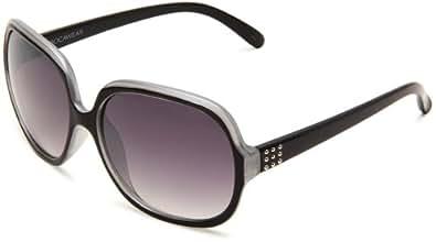 Rocawear Women's R3013 OX Round Sunglasses,Black Frame/Smoke Gradient Lens,One Size