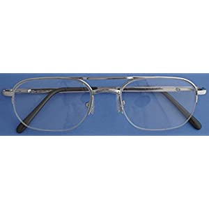 Nisstiiv 925 Sterling Silver half frame Eye Glasses Rare and Unusual spectacle frame eyeglasses