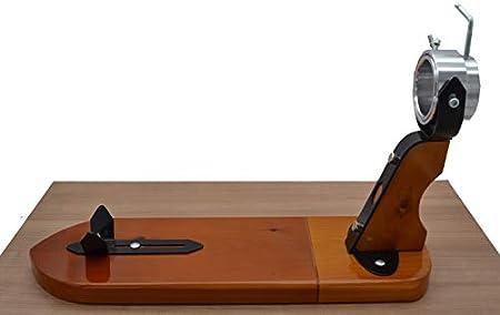 Tabla JAMONERA Giratorio Modelo JARRETE JAMONERO Giratorio EN Madera con HERRAJES DE Hierro para HOGAR O Restaurante con Set DE Corte con Cuchillo JAMONERO CHAIRA AFILADOR Y Cubre Jamon LepantoHouse