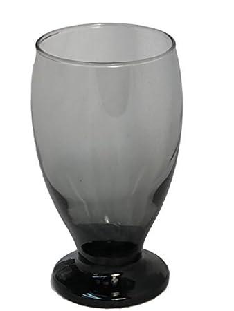 Blue Set of 4 Stub Stem Water Glass Goblet 11.75 Oz