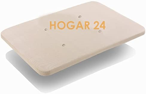 HOGAR24 Base TAPIZADA con Tejido 3D Y VÁLVULAS DE TRANSPIRACIÓN SIN Patas 90x190cm