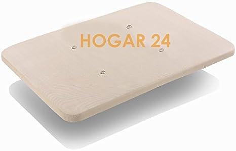 HOGAR24 Base TAPIZADA con Tejido 3D Y VÁLVULAS DE TRANSPIRACIÓN SIN Patas 80x180cm
