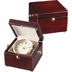 Treasure Chest Clock in Mahogany Finish